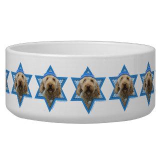Hanukkah Star of David - GoldenDoodle Dog Water Bowls