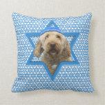 Hanukkah Star of David - GoldenDoodle Throw Pillow