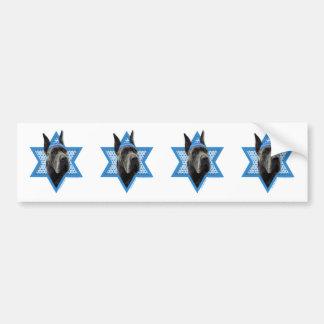 Hanukkah Star of David - Great Dane - Grey Bumper Sticker