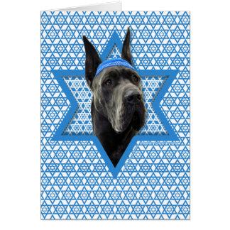 Hanukkah Star of David - Great Dane - Grey Card