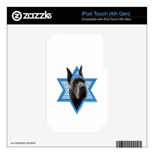 Hanukkah Star of David - Great Dane - Grey Skin For iPod Touch 4G