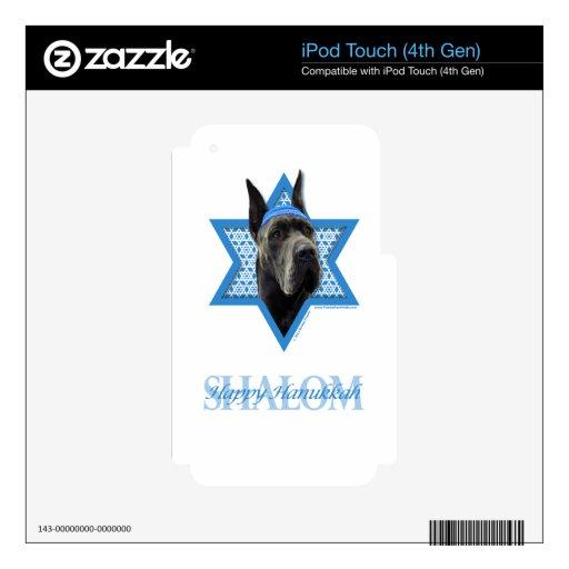 Hanukkah Star of David - Great Dane - Grey iPod Touch 4G Decal