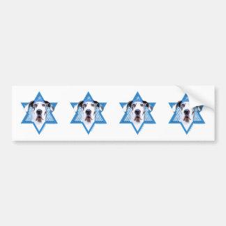 Hanukkah Star of David - Great Dane - Harlequin Car Bumper Sticker