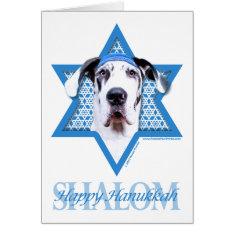 Hanukkah Star Of David - Great Dane - Harlequin Card at Zazzle