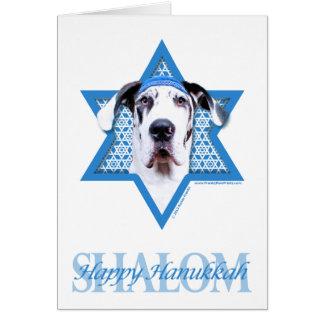 Hanukkah Star of David - Great Dane - Harlequin Card