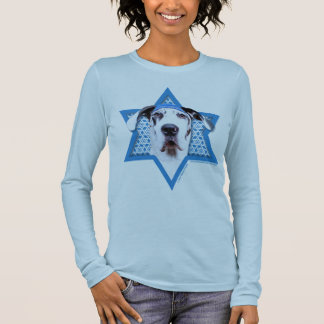 Hanukkah Star of David - Great Dane - Harlequin Long Sleeve T-Shirt