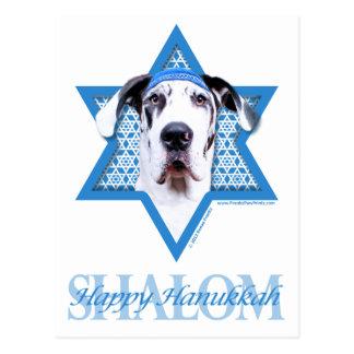 Hanukkah Star of David - Great Dane - Harlequin Postcard