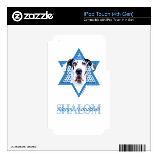Hanukkah Star of David - Great Dane - Harlequin Skin For iPod Touch 4G