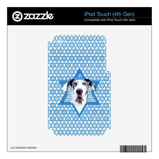 Hanukkah Star of David - Great Dane - Harlequin Decal For iPod Touch 4G