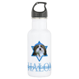 Hanukkah Star of David - Havanese 18oz Water Bottle