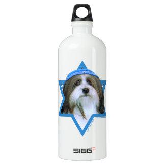 Hanukkah Star of David - Havanese Aluminum Water Bottle