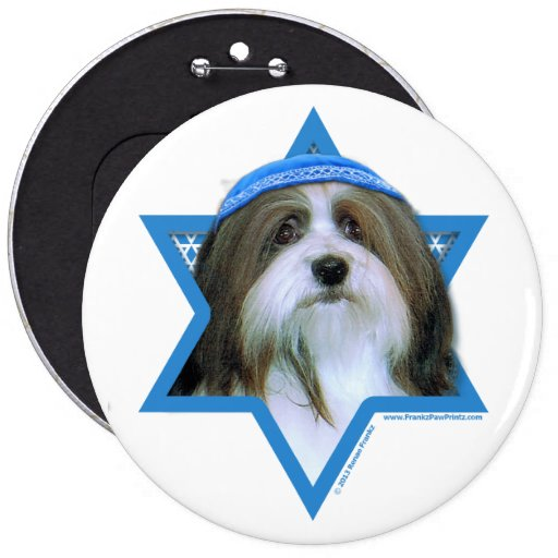 Hanukkah Star of David - Havanese Pinback Buttons