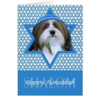 Hanukkah Star of David - Havanese Card