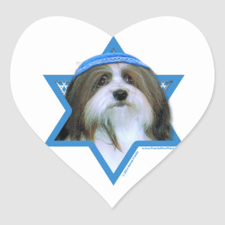 Hanukkah Star of David - Havanese Heart Sticker