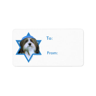 Hanukkah Star of David - Havanese Label