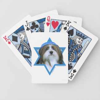 Hanukkah Star of David - Havanese Playing Cards