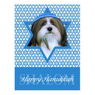 Hanukkah Star of David - Havanese Postcard