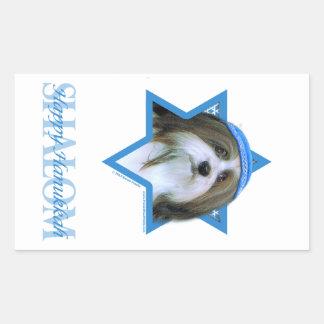 Hanukkah Star of David - Havanese Rectangular Sticker