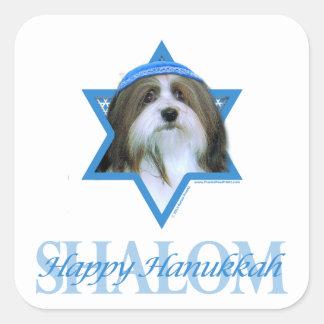 Hanukkah Star of David - Havanese Square Sticker