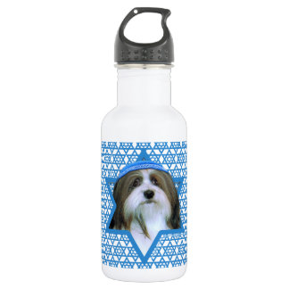 Hanukkah Star of David - Havanese Water Bottle
