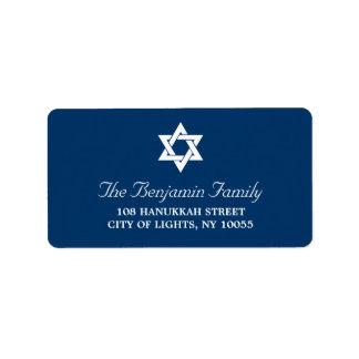 Hanukkah Star Of David Holiday Address Labels