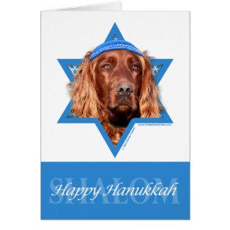 Hanukkah Star of David - Irish Setter Stationery Note Card