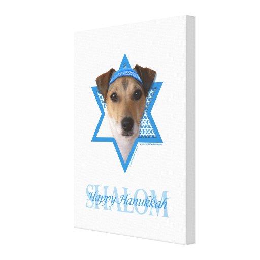 Hanukkah Star of David - Jack Russell Terrier Canvas Prints