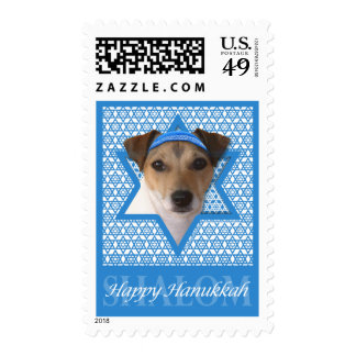 Hanukkah Star of David - Jack Russell Terrier Postage Stamp