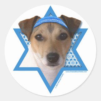 Hanukkah Star of David - Jack Russell Terrier Round Sticker