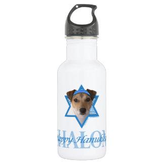 Hanukkah Star of David - Jack Russell Terrier Water Bottle