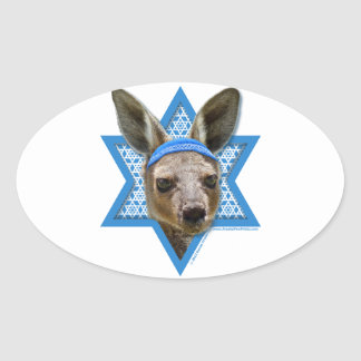 Hanukkah Star of David - Kangaroo Oval Sticker