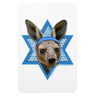 Hanukkah Star of David - Kangaroo Rectangular Magnets