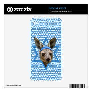 Hanukkah Star of David - Kangaroo Skin For The iPhone 4S