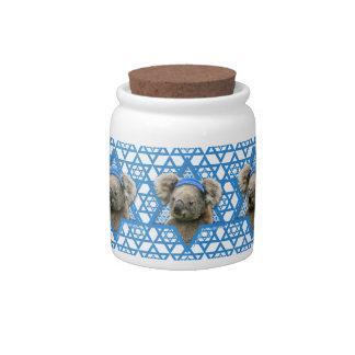Hanukkah Star of David - Koala Bear Candy Jars