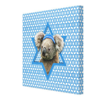 Hanukkah Star of David - Koala Bear Stretched Canvas Prints