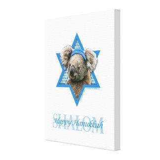 Hanukkah Star of David - Koala Bear Canvas Print