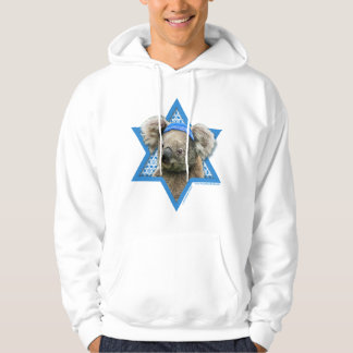 Hanukkah Star of David - Koala Bear Hoodie