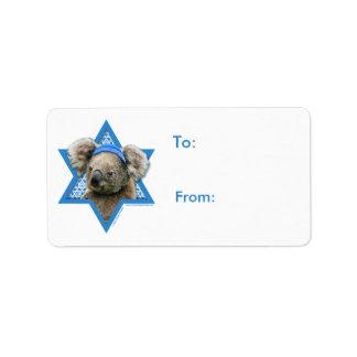 Hanukkah Star of David - Koala Bear Label