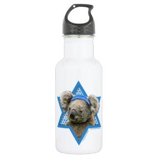 Hanukkah Star of David - Koala Bear Water Bottle