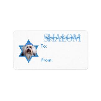 Hanukkah Star of David - Lowchen Labels
