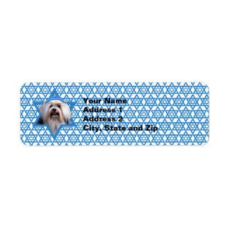 Hanukkah Star of David - Lowchen Custom Return Address Labels