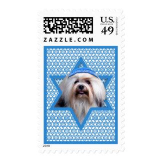 Hanukkah Star of David - Lowchen Postage Stamp