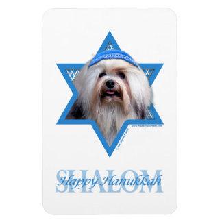 Hanukkah Star of David - Lowchen Flexible Magnet