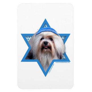 Hanukkah Star of David - Lowchen Rectangular Magnet