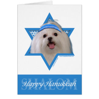 Hanukkah Star of David - Maltese Card