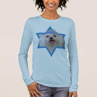 Hanukkah Star of David - Maltese Long Sleeve T-Shirt