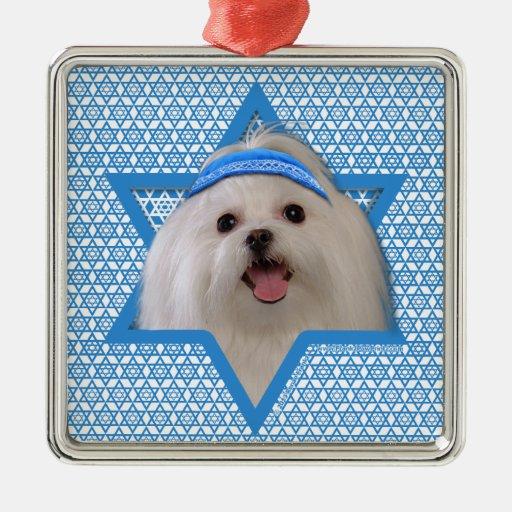 Hanukkah Star of David - Maltese Christmas Tree Ornaments