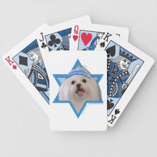 Hanukkah Star of David - Maltese Bicycle Poker Cards