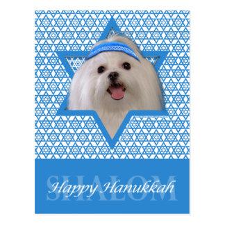 Hanukkah Star of David - Maltese Postcard