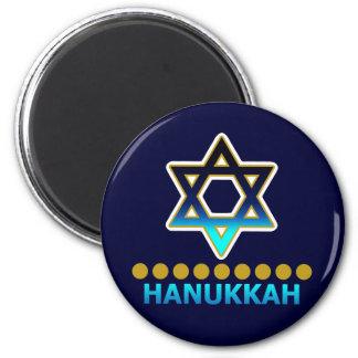Hanukkah Star Of David Menorah Magnet
